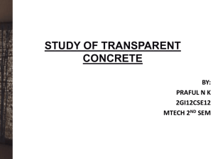 Transparent Concrete Full Seminar Report.PPT