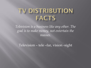TV Distribution ppt - Sports & Entertainment Marketing