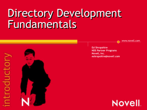 Novell ODBC driver for eDirectory Novell controls for ActiveX (NWDir)