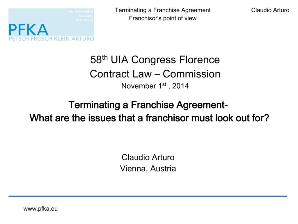 Terminating A Franchise Agreement