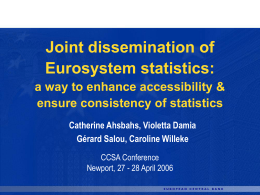 a way to enhance accessibility & ensure consistency of statistics