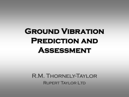 Ground Vibration Prediction and Assessment