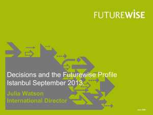 Futurewise Profile Feedback