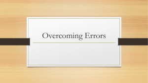 Overcoming Errors - MaderasOnlineClassroom