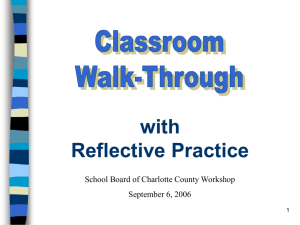 Classroom Walk-Through 4 - Charlotte County Public Schools
