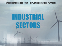 industrial sectors - West Monmouth School
