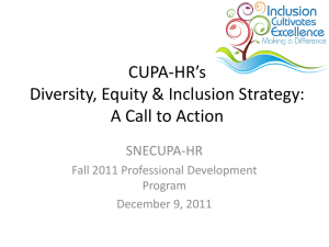 CUPA-HR Call to Action Presentation (Linda Lulli)