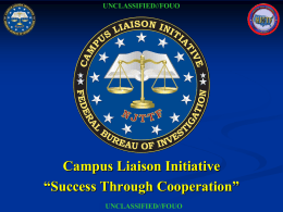 Campus Liaison Initiative