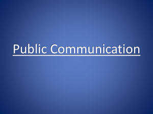 Public Communication