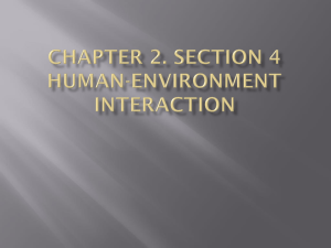 Chapter 2. section 4 Human-environment interaction Part 1 The