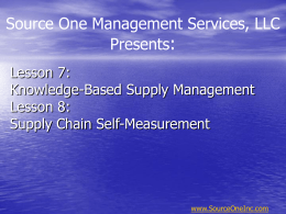 Part Two: Supply Management Handbook