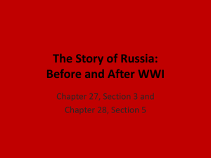 The Story of Russia: from WWI to the Present