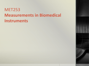 BMT 225 Measurements in Biomedical Instruments
