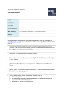 COURSE PLANNING AND APPROVAL OUTLINE PLAN TEMPLATE