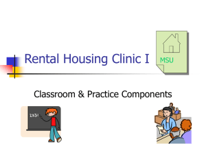 Rental Housing Clinic - Michigan State University College of Law
