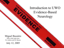 Introduction to Evidence Based Neurology