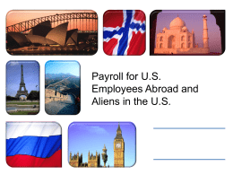 Taxation for US Citizens & Resident Aliens working in a foreign
