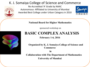 basic complex analysis - Department of Mathematics