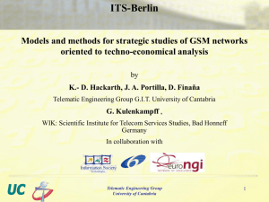 Mobile network design for cost studies I