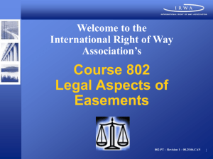 Power Point Presentation only - International Right of Way Association