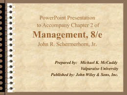 Chapter 2: Management -