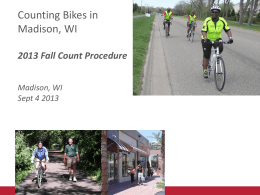 Why Count? - Wisconsin Bike Fed
