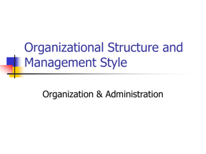 The Nature of Organizations