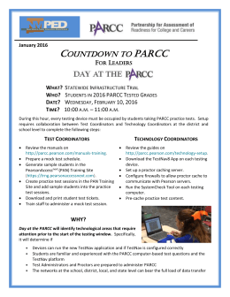 January 2016 Countdown to PARCC Leaders