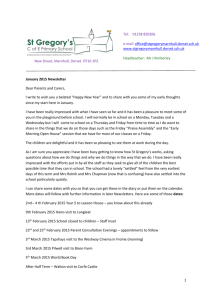 January Newsletter - St Gregory Primary School | Marnhull