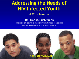 Transitioning from Pediatric to Adolescent HIV Care