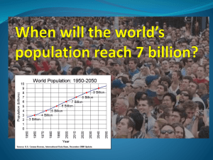 When will the world*s population reach 7 billion?