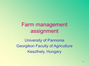 Farm management assignment