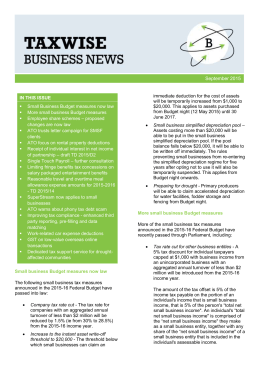 Taxwise Business News – September 2015