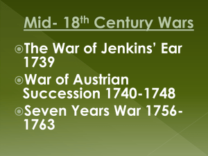 The Mid-18th Century Wars