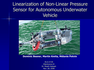Linearization of Non-Linear Pressure Sensor for Autonomous