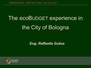 The ecoBUDGET experience in the City of Bologna