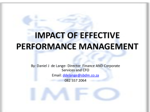 impact of effective performance management