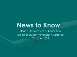 News to Know - Florida Department of Education