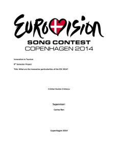 What are the innovative particularities of ESC 2014?