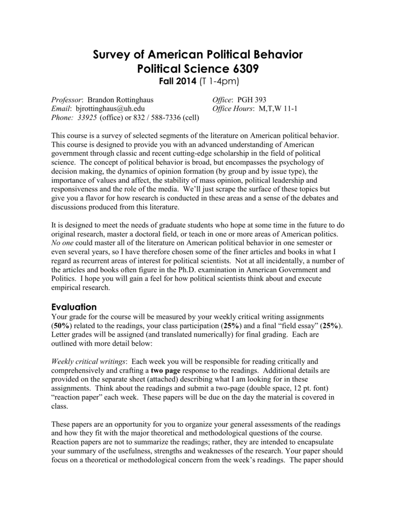 Master thesis outline political science