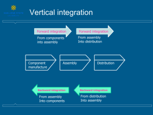 Vertical Integration and Transaction Cost Economics (TCE)