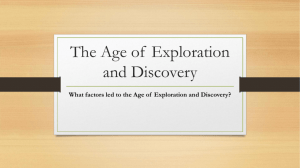 The Age of Exploration and Discovery ppt