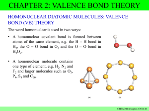 Chapter 2 Valence bond theory