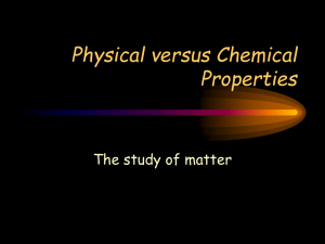 Physical versus Chemical Properties