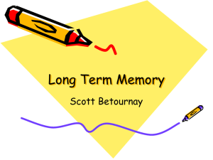 PowerPoint Presentation - Long Term Memory