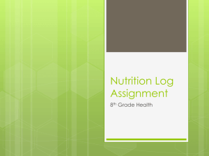 Nutrition Log Assignment