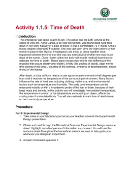 Activity 1.1.5: Time of Death Introduction