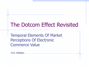 The Dotcom Effect Revisited