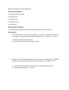 Study Guide Chapter 5 mini-Test