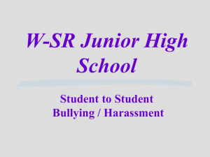 W-SR Junior High Student to Student Harassment - Waverly
